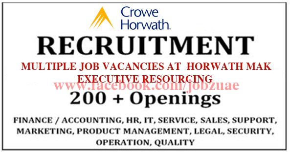 MULTIPLE JOB VACANCIES AT HORWATH MAK EXECUTIVE RESOURCING ...