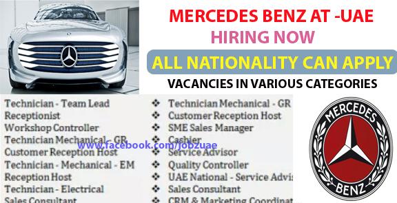 Job Task Many Job Vacancies At Mercedes Benz