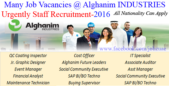 Production Jobs -OTHER VACANCIES AT ALGHANIM INDUSTRIES