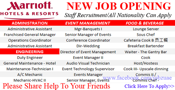 Hotels Careers -Latest Job Vacancies @ Marriott International