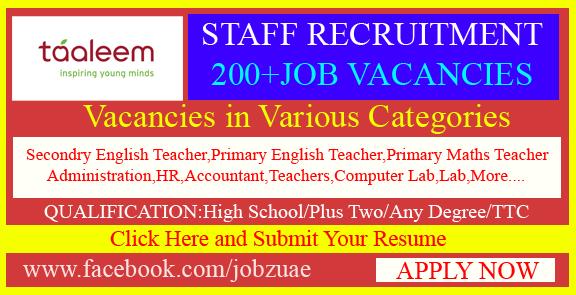 Teaching Career Vacancies AT TAALEEM SCHOOLS DUBAI